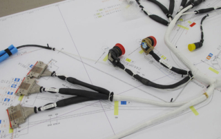 Closed bundle electrical wiring harnesses